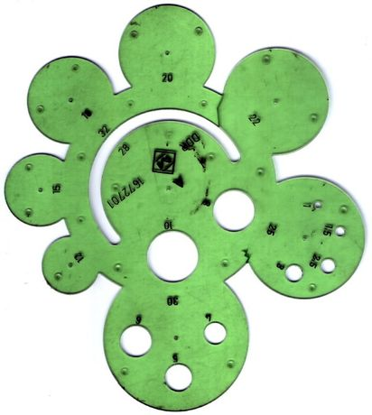 şablon cercuri, unul dintre cele două din foto