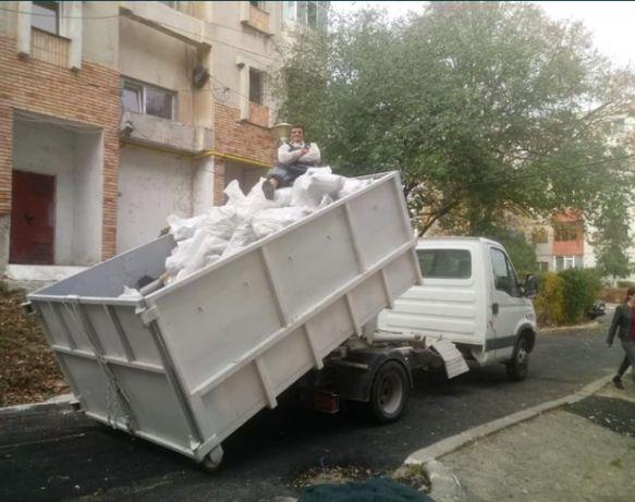 Transport moloz moluz orice fel de gunoi Bena detasabila cuve targa