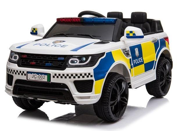 Masinuta electrica POLICE JC002 12V PREMIUM #Alb