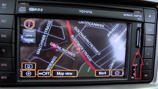 Card Toyota TNS 510 Harti Navigatie Europa + Romania 2020 Original