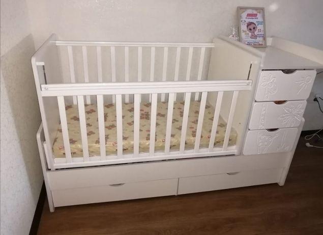 Кроватка детская трансформер подходит от 0 до 15 лет