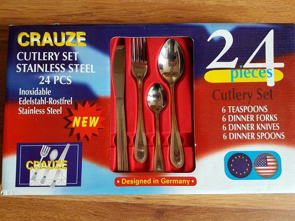 Прибори за хранене Crauze 4x6бр.