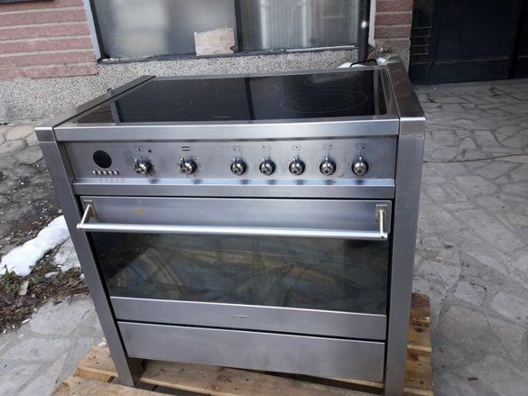 Професионална готварска печка с индукционни котлони