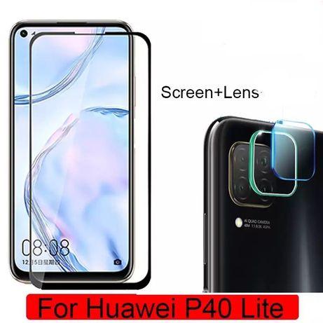 Huawei P40 Lite / E - Pachet Folie Camera si Folie Sticla Curbata 11D