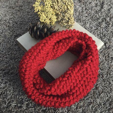 Ръчно плетен шал по поръчка кръгъл шал тип яка