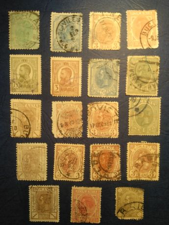 Timbre Carol I stampilate