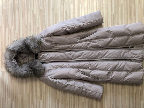 Длинный зимний женский пуховик