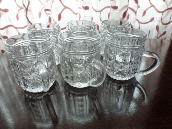 руски кристални чаши, рисувано стъкло