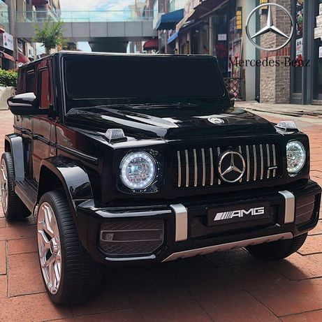 Акумулаторен джип Mercedes Benz G63 12V, меки гуми, кожена седалка, ме