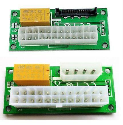 24 - контактный синхронизатор запуска 2 блоков питания