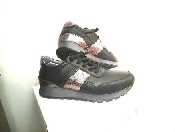 Обувь кроссовки кожанные, демисезонные
