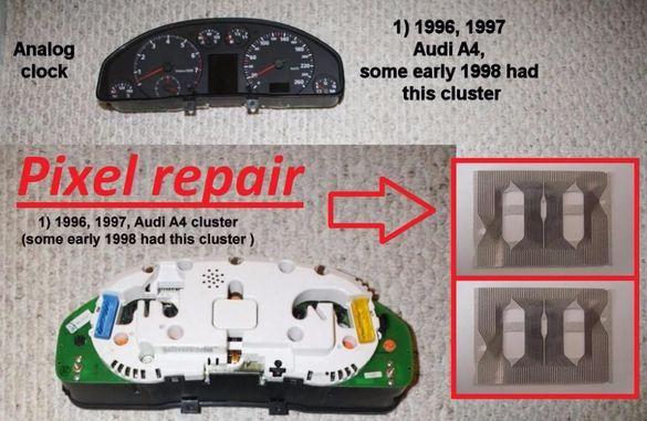 Лентов кабел за дисплей километраж audi a4 (96 - 97) Pixel repair