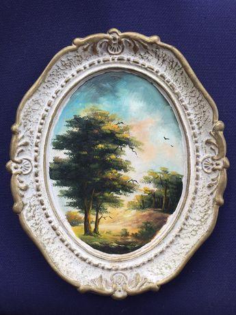 tablou vechi pictura pe ipsos