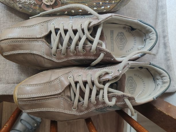 Кроссовки кожаные, немецкие
