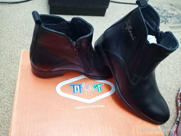 Продам детские кожаные ботинки