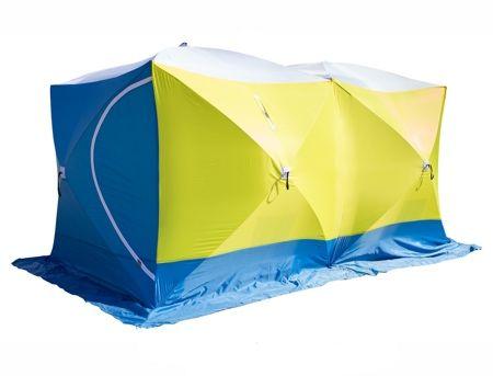 Палатка рыбака КУБ 3 ДУБЛЬ (трехслойная, дышащая)
