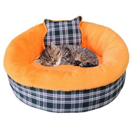Лежанка круглая для кошек и собак Комфорт