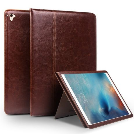 Husa iPad 6,5 9.7, Air 2 piele moale Qialino rama completa,suport mana