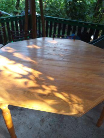 Vand-Scjimb Masa din lemn de TEI octogonala-BLAT DEMONTABIL-urgent