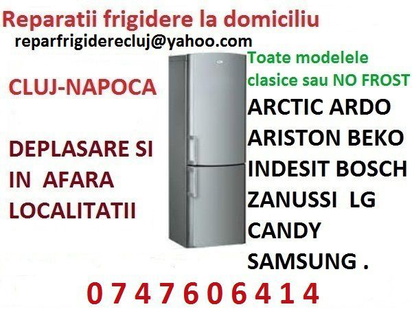 Reparatii frigidere Cluj la domiciliu