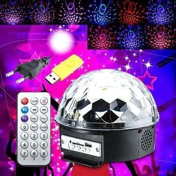 Музыкальный диско-шар с Bluetooth, USB, светомузыкой, динамиками и пул