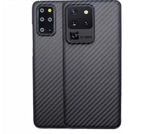 Samsung S20 S20 Plus S20 Ultra - Husa Slim Silicon Kevlar Look Neagra