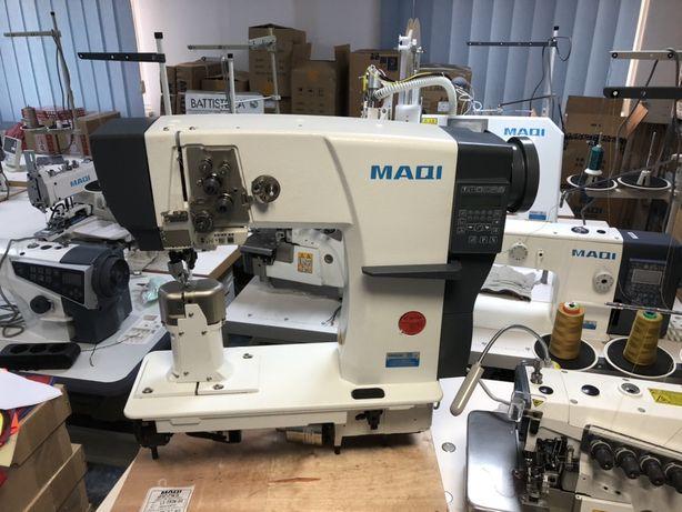 Masina de cusut cu 2 ace fixe pentru piele, MAQI 592N-D3/A EOL SRL