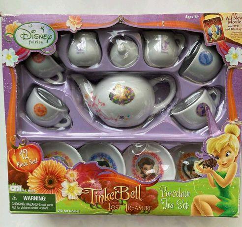 Детски комплект Tinker Bell  Порцеланов сервиз за чай за кукли.
