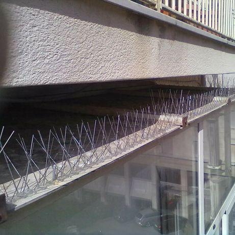 Tepi anti porumbei montaj țepi contra porumbeilor la inaltime