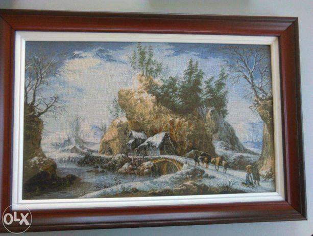 "Vand goblen ""Iarna in Muntii Apenini""dupa pictura lui Francesco Foschi"