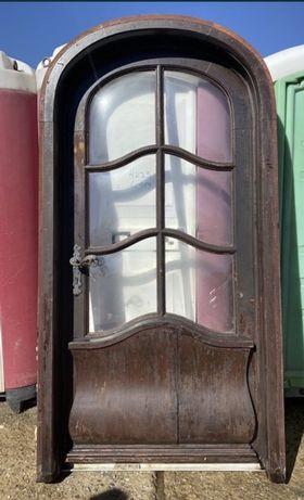 Usa casa vila firma intrare lemn geam termopan H 225 x L 119