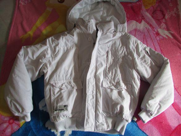 Пухено бяло яке - унисекс