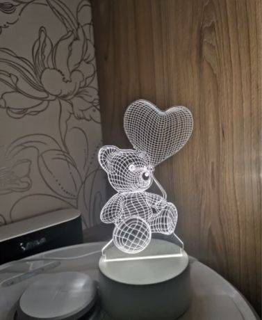 Lampa 3D Ursulet