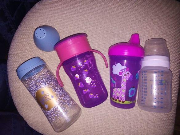 Бебешки шишета и чаши