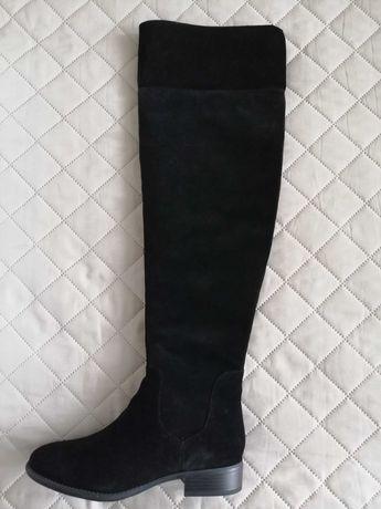 Нови дамски ботуши - чизми естествен велур 5-th Avenue Soft, номер 39