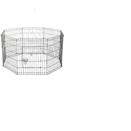 Cusca pentru animale mici, PawHut, Negru, 61x61 cm, 8 elemente
