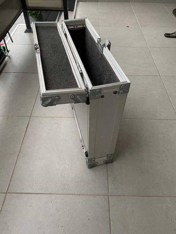 flight case rack 2u echipament dj valiza aluminiu