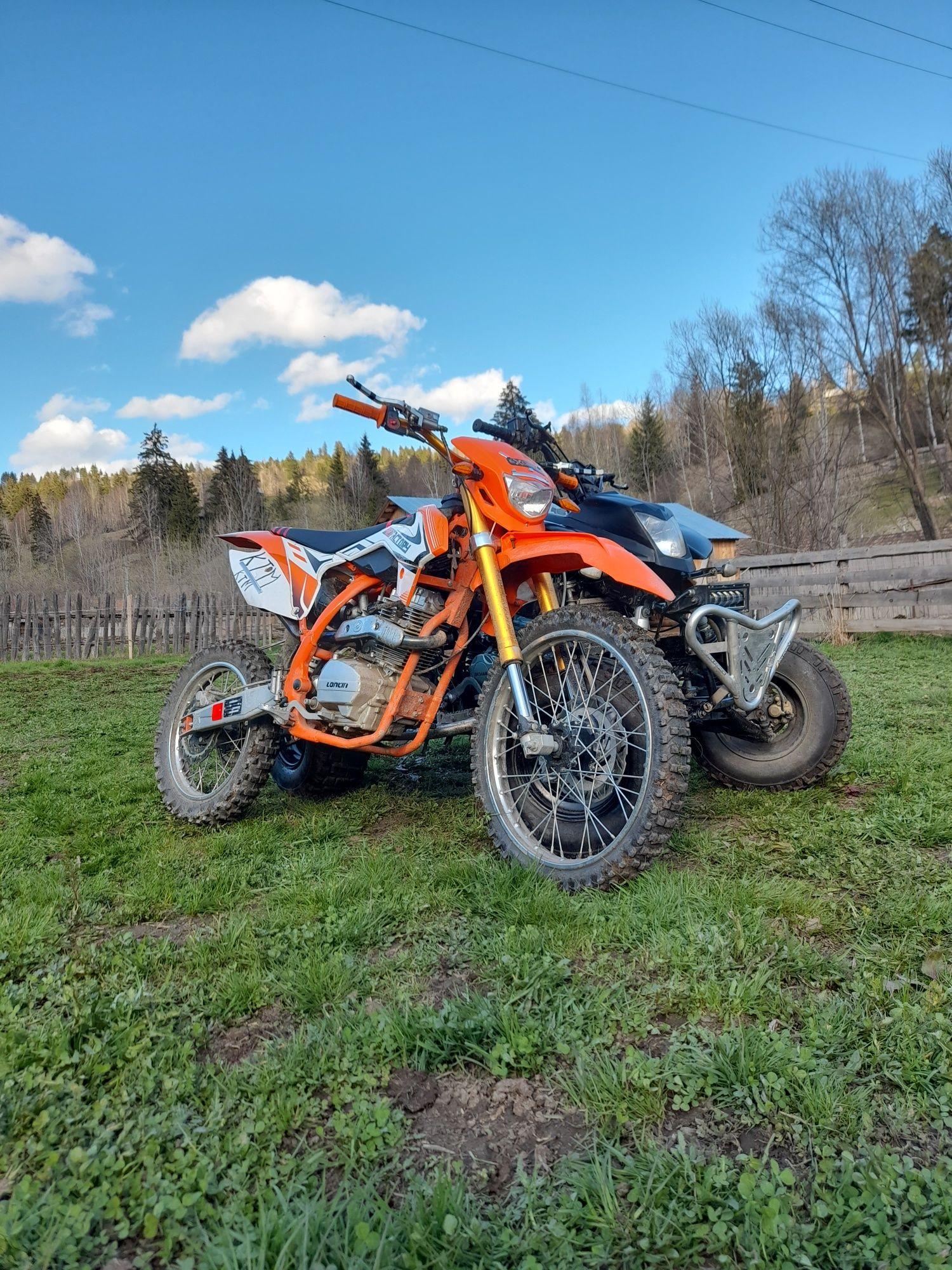 Cross ktm 250cc cu motor loncin nou (gas gas ,yamaha ,kawasaki,ktm ,)