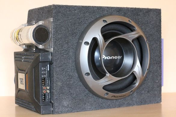 Pioneer 12'' 1200 Watt Max Subwoofer in MDF Case+ Sony 752x+ JBL BP600