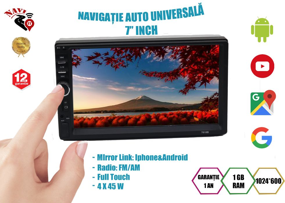 Navigatie universala 7 inch Android 9.1 Camera Marsarier Bistrita - imagine 1