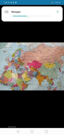 Политическая карта мира и Карта Казахстана 70*100