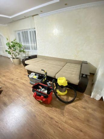 Химчистка дивана удаление пятен чистка мебели