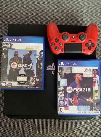 Ps 4 Pro 1 Tb + (FIFA 21 & UFC4)