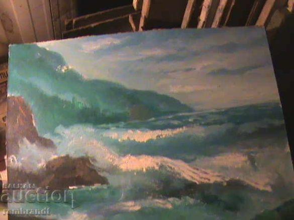 Две маслени картини с морска тематика