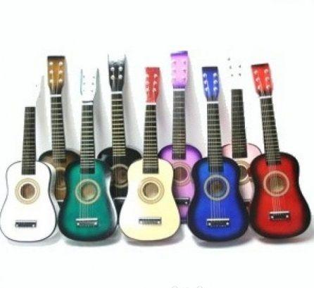 Chitara lemn copii marime 55 / 65 cm Diverse Culori