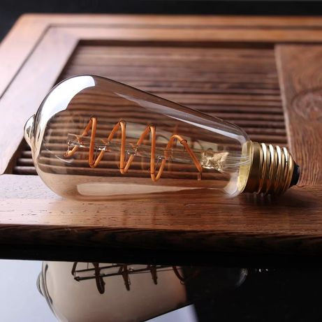 Becuri edison retro vintage led filament spirala dimabil
