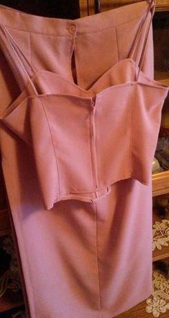 Fusta lunga din stofa si corset.