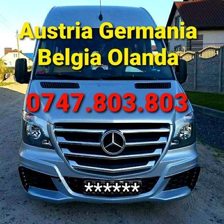 Transport Germania Belgia Olanda Austria Cehia Persoane si Auto Zilnic