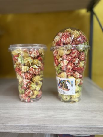 Одноразовые стаканы 500 мл попкорн и вата Алматы доставка
