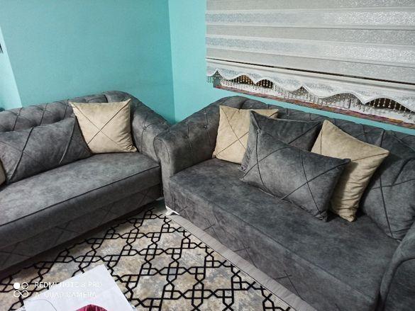 НАМАЛЕНИЕ Луксозен диван Chester тройка и двойка
